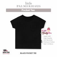 Little Palmerhaus Pocket Tee Baju Bayi Anak Laki-Laki 1-6 Tahun Black