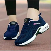 sepatu sneaker kets wanita adds navy biru sport ready no 37 38 39 40