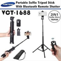 TONGSIS TRIPOD Bluetooth VCT-1688 - Tripod Yunteng wireless 2in1