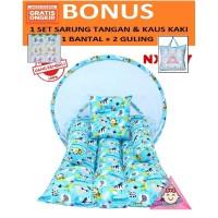 Kasur bayi kelambu lipat bisa di lepas / kasur bayi karakter anak lucu