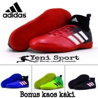 Sepatu Futsal Anak Adidas Techfit X Abu Hijau Stabilo - Hitam, 35