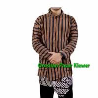 Baju Surjan Lurik Dewasa + Jarik Tapih Batik