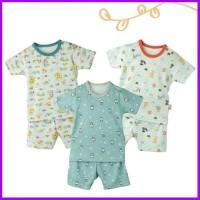 setelan singlet oblong pendek small bayi baju junior velvet wonderland