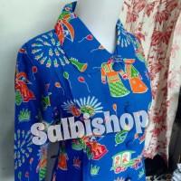 Blus batik ondel wanita batik DKI batik betawi