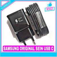 Charger Samsung Galaxy A50 A50s Fast Charging SEIN ORIGINAL 100% USB C - Hitam