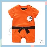 Baju Romper / Jumper Anak Bayi Laki-laki Anime Goku Dragon Ball