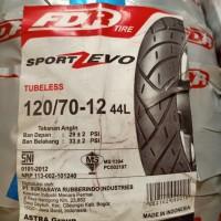 BAN LUAR FDR SPORT ZEVO TUBELESS 120 - 70 - 12 SCOOPY Fi RING 12