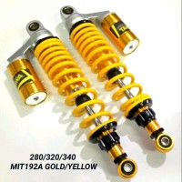 Shock Shockbreaker Takegawa 192A Honda bebek 340mm Tabung Yellow Gold