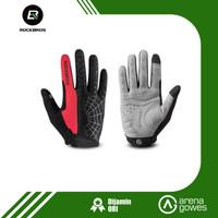 Sarung Tangan Touch Screen - Sarung Tangan Mtb Full Finger Rockbros - Merah, XL