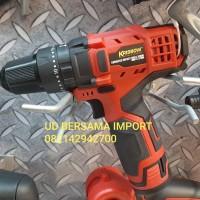 bor tanpa kabel KRISBOW cordless impact drill 10mm