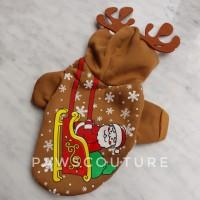 (B48) Baju Jaket Kostum Natal Rusa Santa Anjing Kucing Hewan