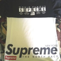 baju supreme world famous lengan panjang 215.00 new ori