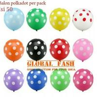 Balon latex polkadot per pack isi 50 / balon polkadot/ polka dot
