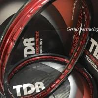 VELG TDR W SHAPE SET RING 17 X 140/160 WARNA BLACK/RED TWOTONE SERIES