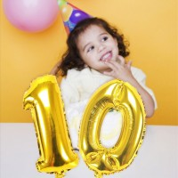 Terbaru Emas Surat Nama Balon Helium Foil Surat Balon Dekorasi