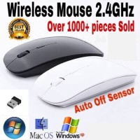 Mouse Wireless APPLE X3 SLIM WITH USB RECEIVER 2.4GHz MACBOOK LAPTOP