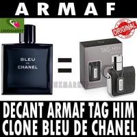 ORIGINAL DECANT PARFUM ARMAF TAG HIM POUR HOMME CLONE BLEU DE CHANEL