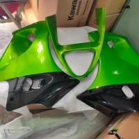 fering fairing samping ninja RR old v gril hijau metalik 1 pasang