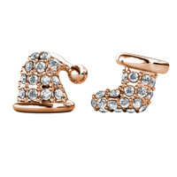 Little Santa's Earrings - Anting Crystal by Her Jewellery - Rose Gold