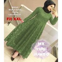 MAXI YUNI JUMBO XXL ARMY [Gamis 0121] SLW Baju Gamis Wanita Terbaru