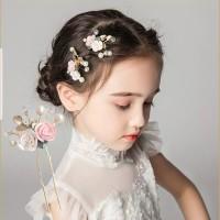 Hair pin Hiasan Rambut Bunga Aksesoris Sanggul Pesta Pengantin H07