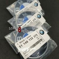 Emblem Bagasi BMW 74mm E46 E39 E90 E38 Background Hitam Kualitas OEM