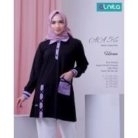 Baju Atasan Kaos Dewasa Alnita AA 56 Hitam & Turquoise