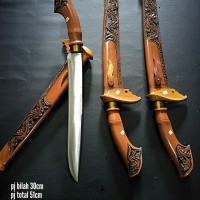 pisau sembelih baja ukir badik makassar