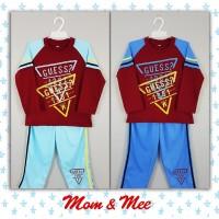 Piyama / Baju Tidur Anak GUESS Segitiga Merah 8-12 - Biru Muda, 8