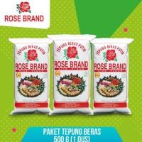 HOT SALE Paket Hemat Tepung Beras Rose Brand 500 Gram (1 Dus) Terjamin