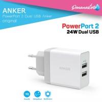 Charge Anker PowerPort 2 Dual USB Wall Fast Charging Power IQ Original