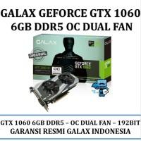 VGA Card GALAX Geforce GTX 1060 OC & 40 OVERCLOCK& 41 6GB DDR5 - Dual