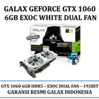 VGA GALAX Geforce GTX 1060 6GB DDR5 EXOC EXTREME OVERCLOCK White