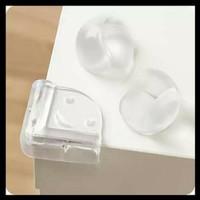 Pelindung Pengaman Sudut Siku Meja Type ( L Smile ) Silikon Transparan