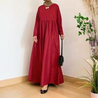 ISH Dolly Dress Baju Menyusui Gamis Katun Hamil Iymel Says Hijab - Mar