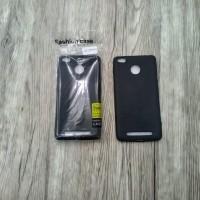 Case Hitam Black Matte Redmi 3S Softcase Polos Silikon HP