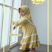 Gamis Set Anak/ Gampis Chanda/Gamus Renda / Baju Muslim Bayi size 2Th
