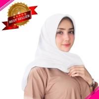 Jilbab Voal Polos Putih/ Jilbab Voal Segi Empat / Jilbab Voal Anti AIR