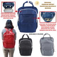 Premium Diaper Bag Backpack Tas Bayi Import Brienne Baby Travelling