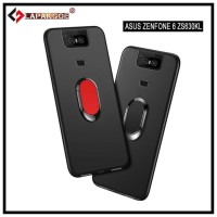 ASUS ZENFONE 6 2019 ZS630KL MACARON RING CASE SOFT STAND SILIKON COVER