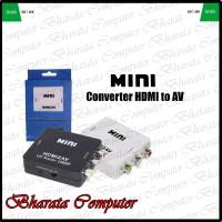 CONVERTER HDMI TO AV / RCA MINI BOX HDMI2AV - Putih