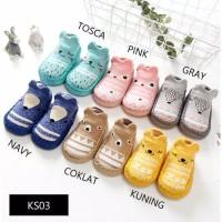 Baby Prewalker Sepatu Bayi Korea Kaos Kaki Booties Skidder