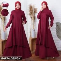 Baju/Gamis/Dress Wanita Muslimah Terbaru&Termurah (merah marun/maroon)