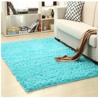 Karpet Bulu Model Korea Anti Slip Ruang Tamu Ruang Keluarga 100x150