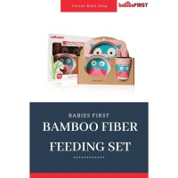 Babies First Bamboo Fiber Feeding Set | Set Tempat Makan Bayi