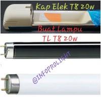 KAP LAMPU TL T8 18 / 20W ELEKTRIK u/ Neon UV/BL/BLB/Germ 20W T8/T6