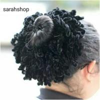 Ikat rambut ubur ubur / kunciran cendol / hijab cepol aksesoris jilbab