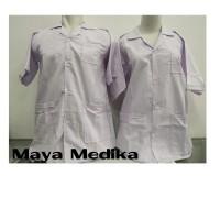 Baju Laboratorium Lengan Pendek / Kain Katun