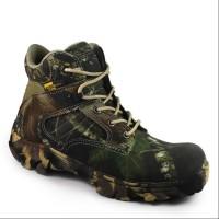 Sepatu Boots Pria Camo Pendek Sepatu Kerja Sepatu Berburu ujung besi