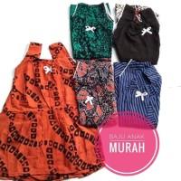 Dress batik anak perempuan murah lucu (baju tidur / santai dirumah)